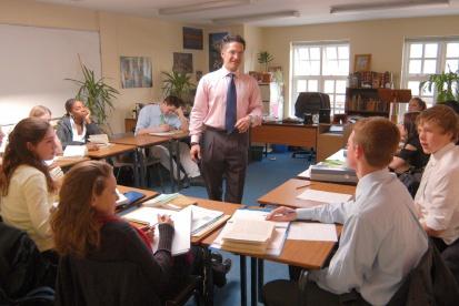 写真:英語での授業風景